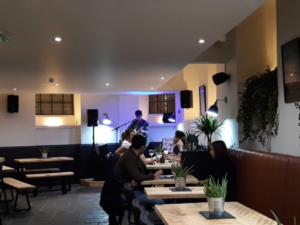 Live Music PA System Installed Bar in Nottingham with Lighting