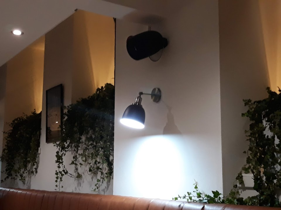 Install Loudspeaker fitted on a wall in a bar in Nottingham