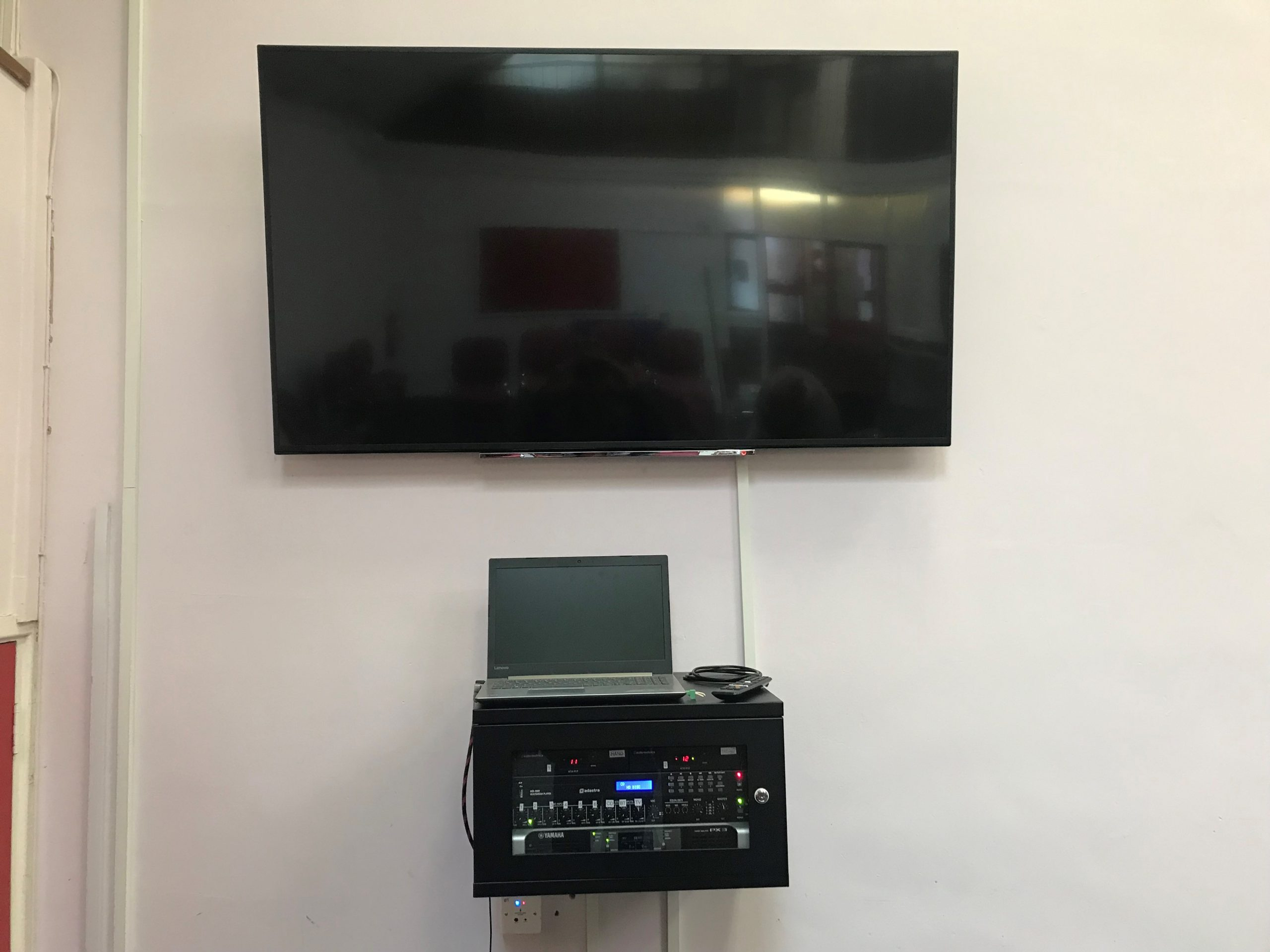 TV and Power Amp Rack Installed for Viewing Nottingham