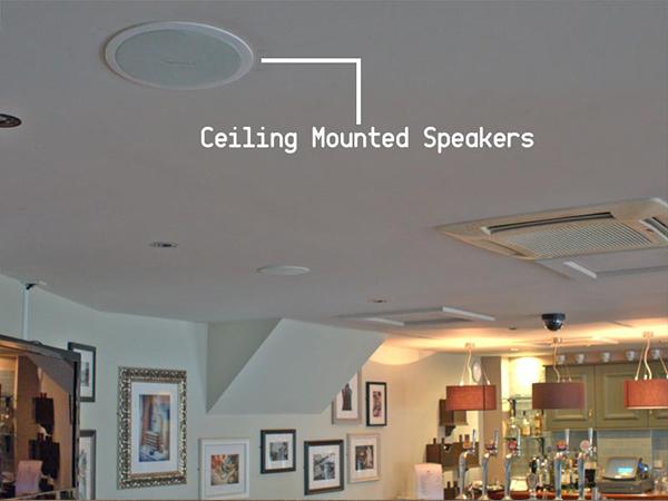 Ceiling Speaker AV Installation Restaurant Nottingham