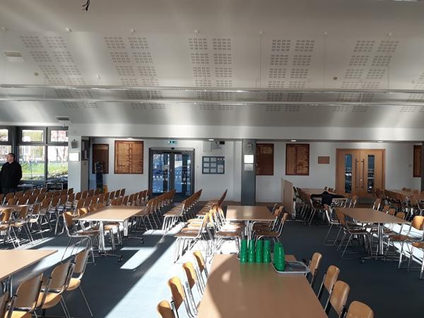 canteen college school hall speaker av installation