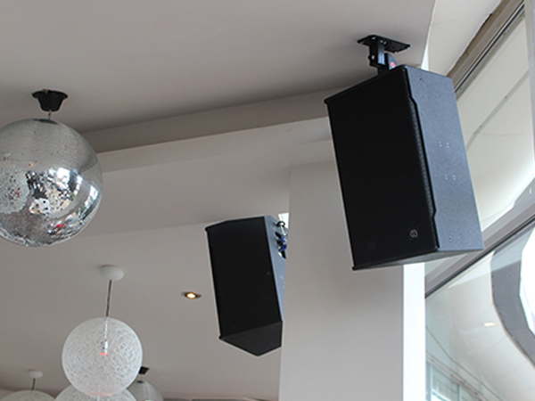 Black Loudspeakers Wallmounted for Dancefloor Nottingham