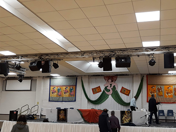 Hindu Church PA Sound System AV Installation