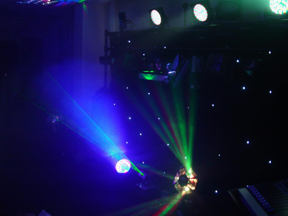 Lighting and effects for audio visual equipment installation