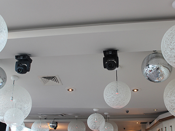 Lighting effects installed to the ceiling for dancefloor effects nottingham
