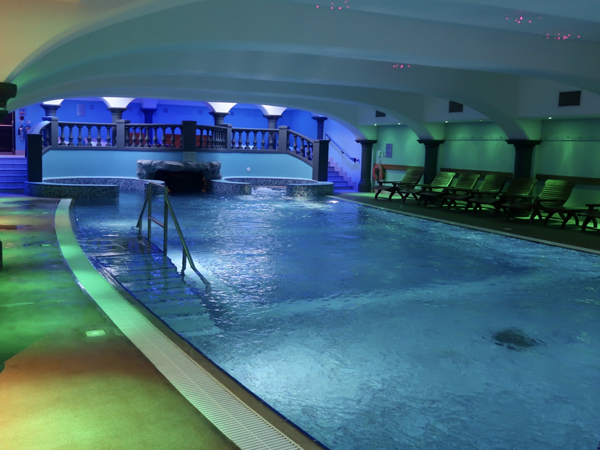 Water Resistant Speakers and Lighting Installed Hotel Spa