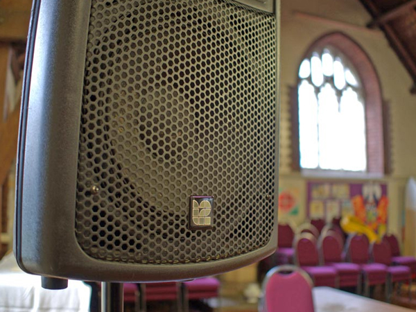 Loudspeaker Installation for a Church Choir Live Music Nottingham
