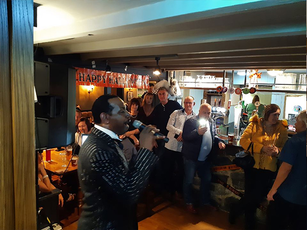 Singing through PA Speaker System in Bar Area Leicester