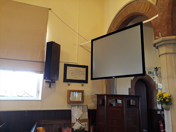 Projector Srcreen Installation for Church