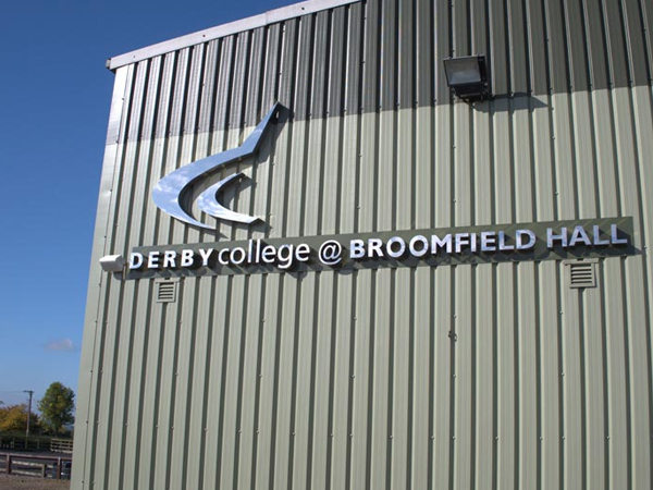 Derby College Equestrian centre gets pa speaker sound system installed