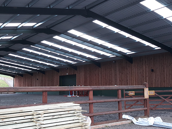 Speaker System Install for an outdoor horse riding school l