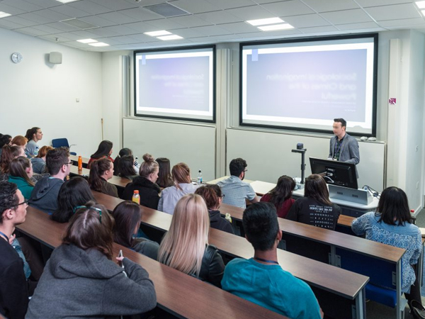TV Screeb AV Installation for University classrooms with speakers wallmounted brackets