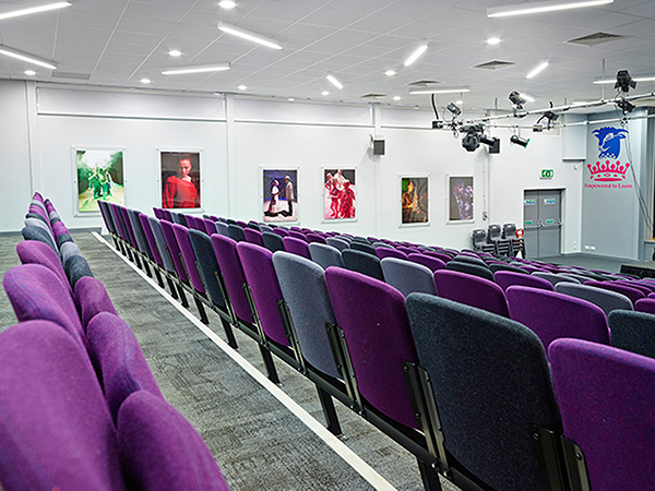 Audio Visual Install for school in Leicester, lots of lighting for their theatre complex