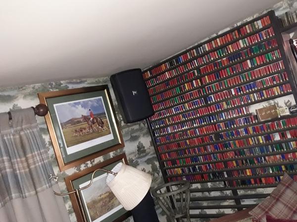 Sound Equipment Black Wall Mounted Loud Speaker Installed