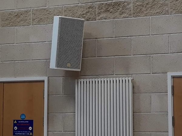Sound System Equipment Installed with White LoudSpeaker