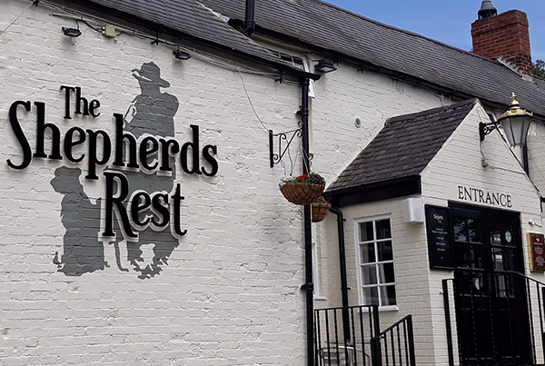 The Shephers Rest Pub Nottingham with the sound system av installation