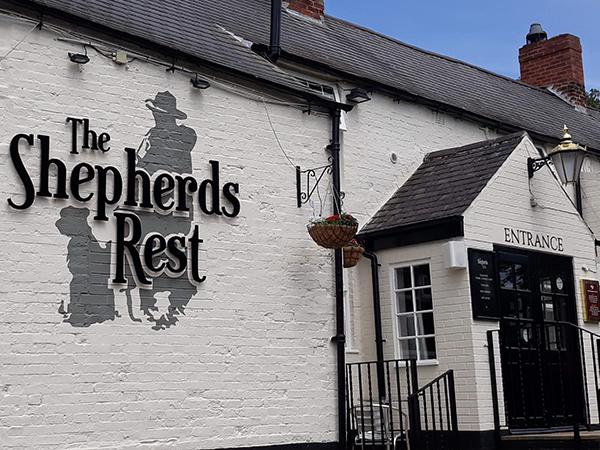The Shephers Rest Pub Nottingham with the sound system av installation