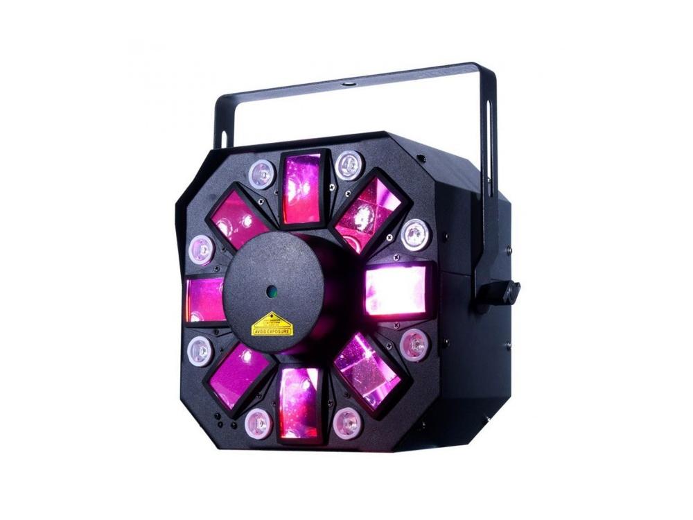 ADJ Stinger II Multi Lighting Effect with Moonflower UV Plus Red & Green Laser