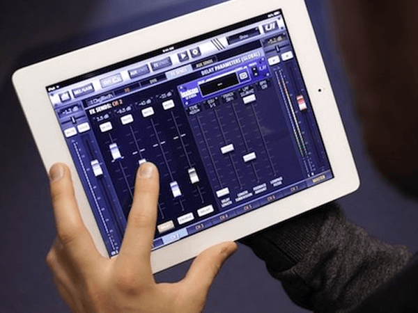 A touch control tablet that controls audio visual systems in a church