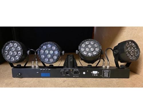 Ex Demo QTX PB-1214 48W RGBW Par LED DMX Lighting Party Bar System