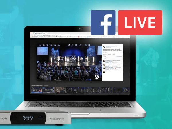 Facebook live streaming a church service on a laptop after an av installation