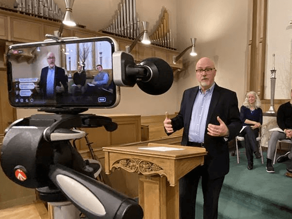 Live Streaming Video Conference at a Local Church