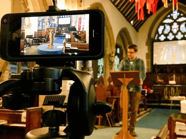 Live streaming a church service through advanced audio visual installation systems