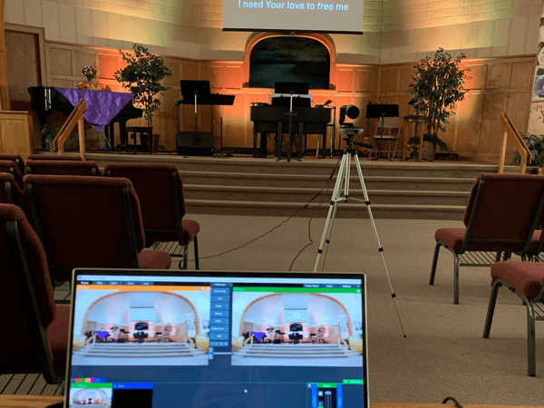 Live video streaming church services with help from church av installations