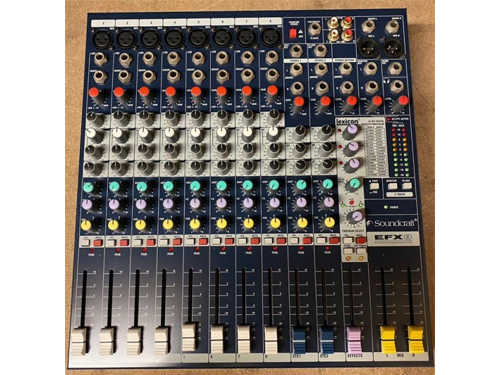 Used Soundcraft EFX-8 12 Channel Live Mixer with 32 Built-In Lexicon DSP Effects