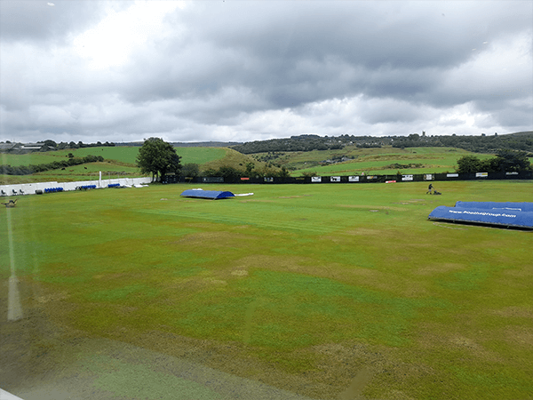 Outdoor Sound System audio visual installation in a cricket sports club