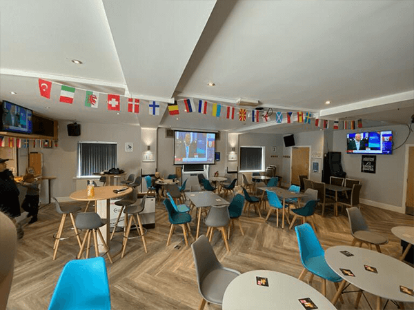 Sound System and Projector audio visual installation in a cricket sports club